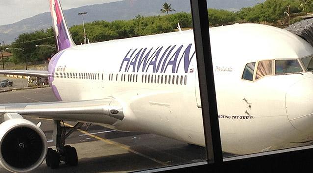 Hawaiian Airlines flight takes passengers back in time