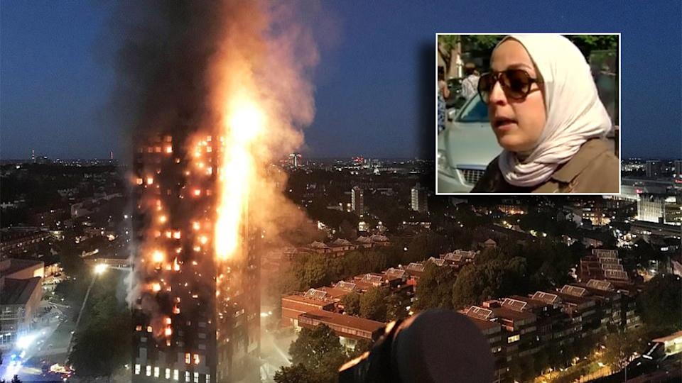 Adele comforts mourners at the Grenfell Tower fire vigil