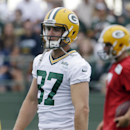 Green Bay Packers' Jordy Nelson watches during NFL football training camp Saturday, July 26, 2014, in Green Bay, Wis. Nelson was signed to a contract extension, the Packers announced Saturday. (AP Photo/Morry Gash)