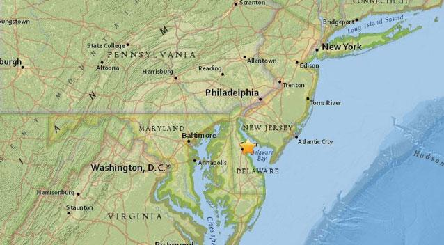 The quake previously reported at magnitude 5.1 and then at 4.4 was centred in the Bombay Hook National Wildlife Refuge on Thursday