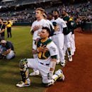 A's fans cheer player who knelt during anthem (Yahoo Sports)
