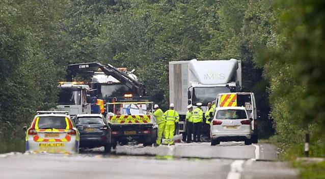 Man witnesses death of wife and her two children in rear-view mirror as auto collides with M&S lorry