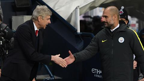 Arsene Wenger Arsenal Pep Guardiola Manchester City