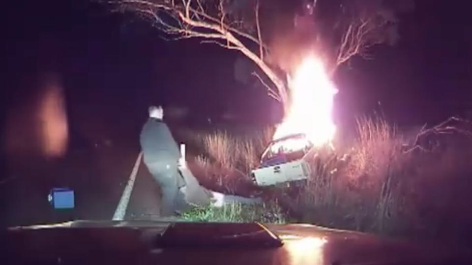 NSW man who saved driver from deadly fireball hailed a hero
