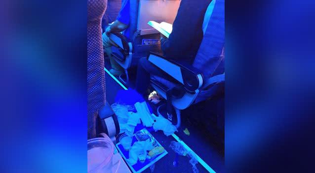 Airline passenger shames fellow traveller for disgusting behaviour