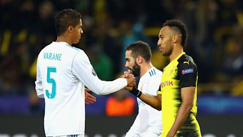 Raphael Varane Pierre-Emerick Aubameyang Real Madrid Borussia Dortmund 25092017