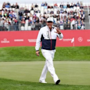 Sep 28, 2016; Chaska, MN, USA;  Phil Mickelson walks on the course during the practice round for the Ryder Cup at Hazeltine National Golf Club. Mandatory Credit: Rob Schumacher-USA TODAY Sports