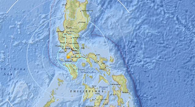Strong, but deep quake shakes northern Philippines