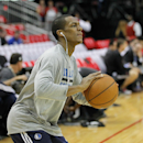 HOUSTON, TX - APRIL 21: Rajon Rondo #9 of the Dallas Mavericks warms up before Game Two of the Western Conference Quarterfinals of the 2015 NBA Playoffs at Toyota Center on April 21, 2015 in Houston, Texas. (Photo by Bob Levey/Getty Images)