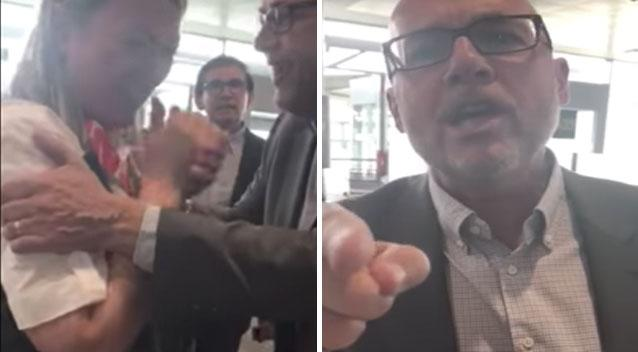 Angry passenger reduces boarding attendant to tears in Brussels airport