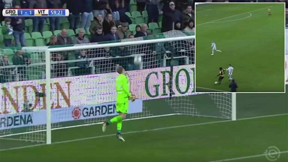Chelsea loanee Fankaty Dabo scores a ridiculous own goal from 35 YARDS