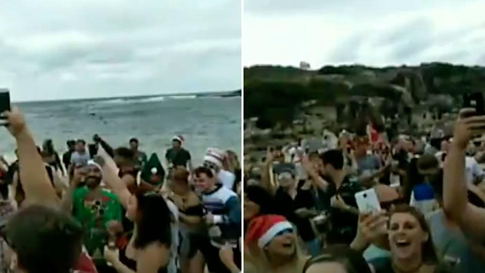 Clean-up underway after St Kilda beach trashed by Christmas partygoers