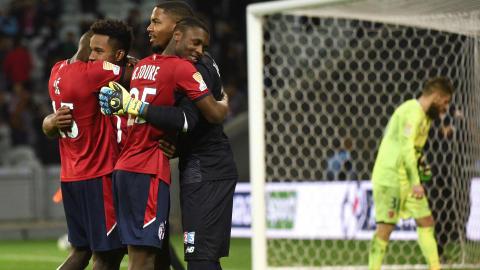 Mike Maignan Lille Valenciennes Coupe de la Ligue 25102017