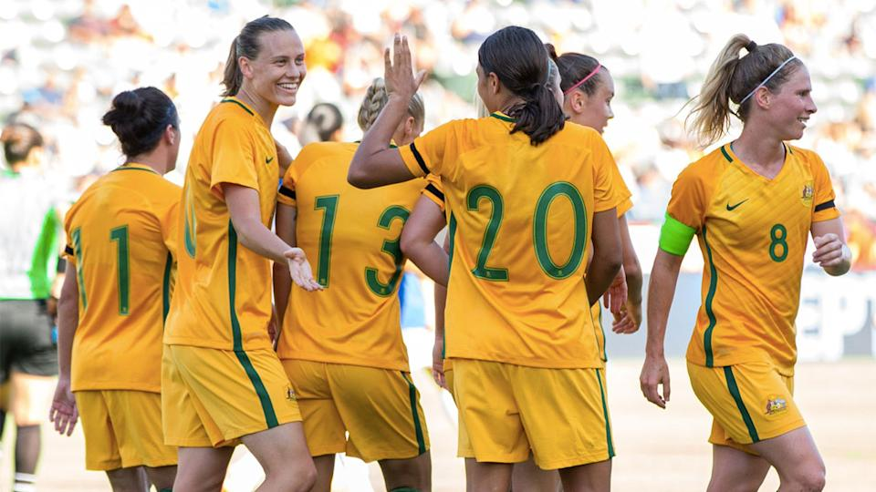 Australia wins Tournament of Nations in 6-1 win over Brazil