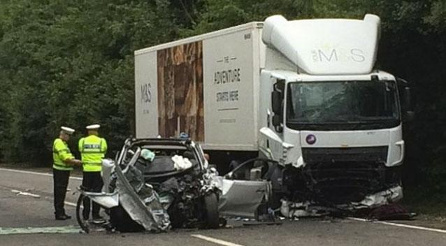 Mother and Her Twins Dead in Horrible Car Crash With Lorry At Barnstaple