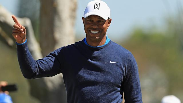 Follow Tiger Woods's first round
