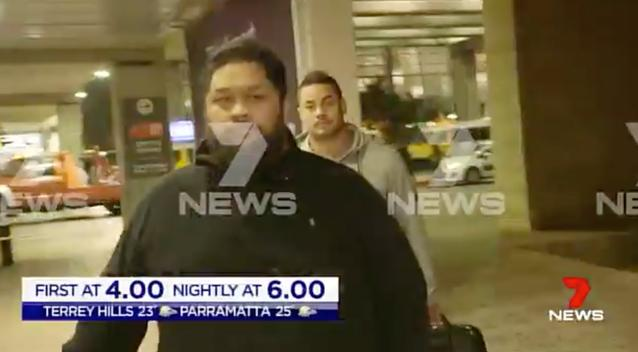Parramatta Eels star Jarryd Hayne has arrived in Israel after being accused of rape