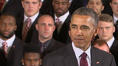 Obama Congratulates Buckeyes on Playoff Win