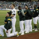 A's rookie Bruce Maxwell