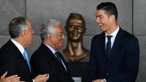 Cristiano Ronaldo statue Madeira Airport
