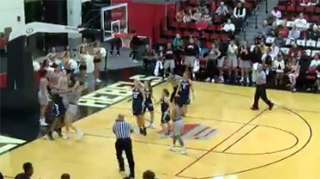 Utah State women fight results in eight ejections
