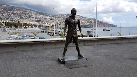 Madeira Cristiano Ronaldo statue in Funchal
