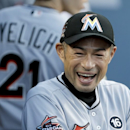 Ichiro becomes oldest player to start in CF (Yahoo Sports)