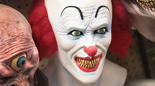 The man donned a clown mask to'discipline his daughter. File pic. Source Getty Images
