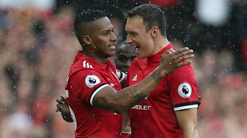 Antonio Valencia Phil Jones Man Utd 2017