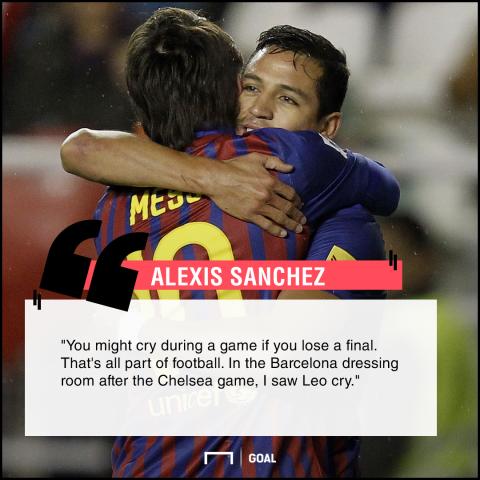 Alexis Sanchez quote Messi
