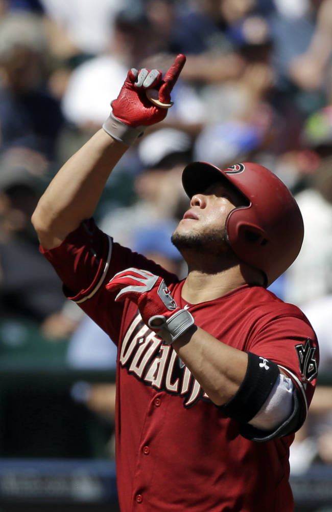 Castillo's 2 homers lead Arizona to 8-2 win over Seattle