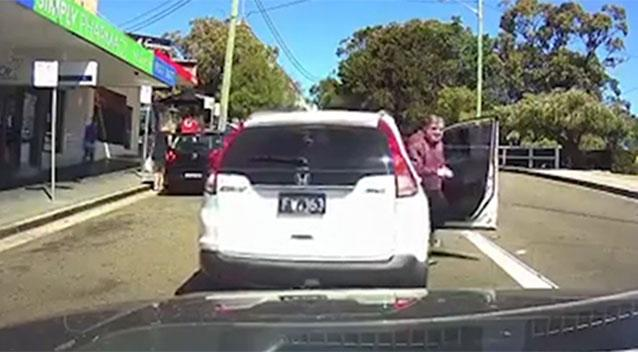 Dash cam video shows driver who hits himself with his own auto