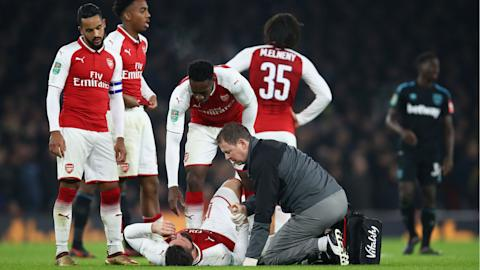 Wenger Reveals Giroud's Hamstring Injury, Set For Scan On Thursday