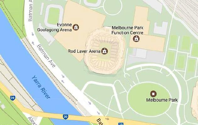 Margaret Court Arena 'renamed' on Google Maps