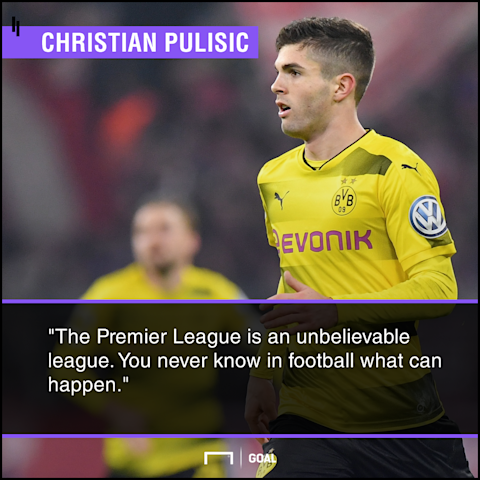Pulisic admits Man United support amid interest