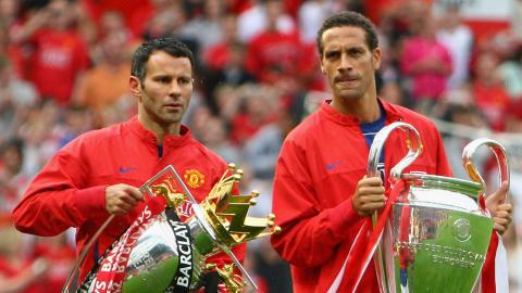 Ryan Giggs Rio Ferdinand Manchester United