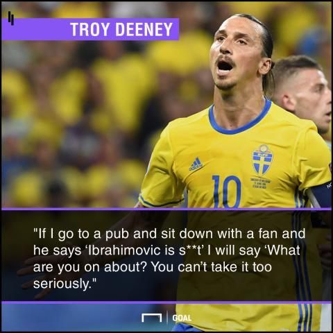 Troy Deeney ignoring critics Zlatan Ibrahimovic fans