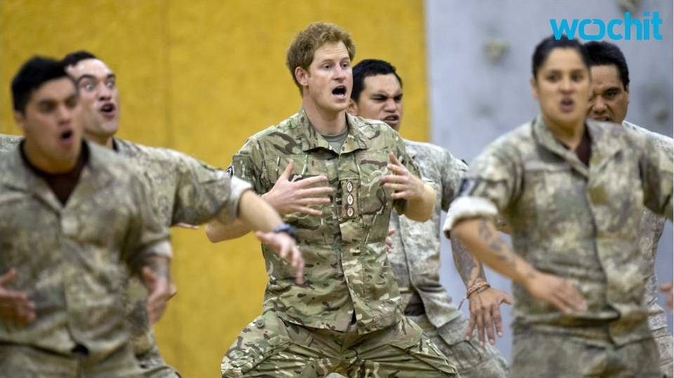 Prince Harry does the Haka with the New Zealand