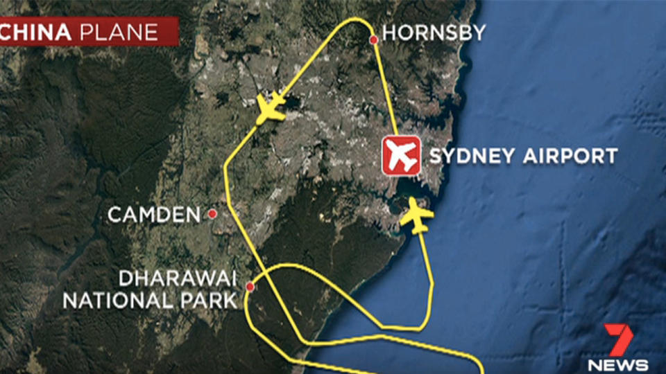 Plane makes emergency landing in Sydney with huge hole in engine casing