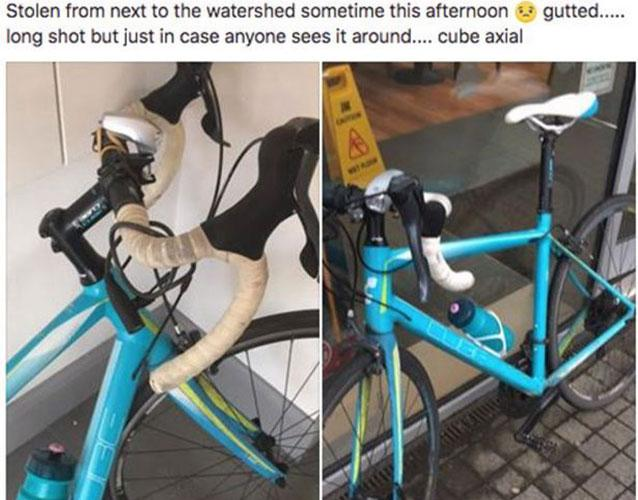 A helpful stranger spotted an online ad selling a bike Jenni Morton Humphreys listed on Facebook as stolen just hours earlier