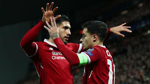 Emre Can Philippe Coutinho Liverpool