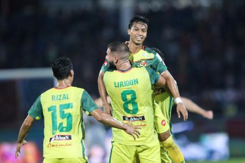 Kedah's Baddrol Bakhtiar celebrating his goal against JDT 20/1/2017