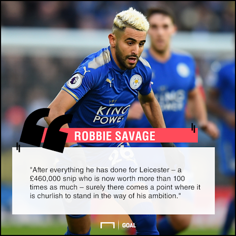 Riyad Mahrez blocked move wrong Robbie Savage