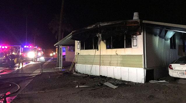 Tucson Fire investigate mobile home fire