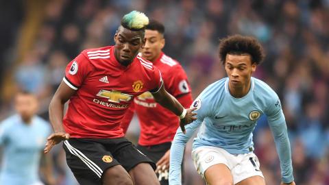 Paul Pogba Leroy Sane Man City Man Utd Premier League