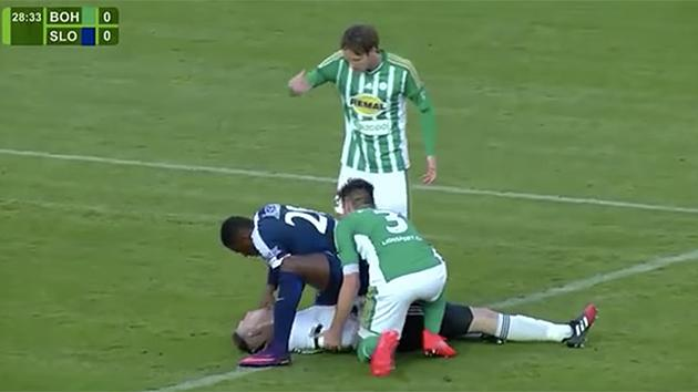 Soccer Player Francis Kone Saves Opponent's Life After Scary Collision