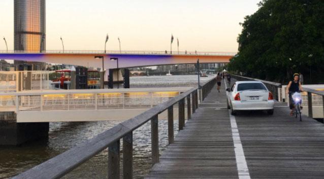 Queensland woman charged after driving down a busy Brisbane boardwalk