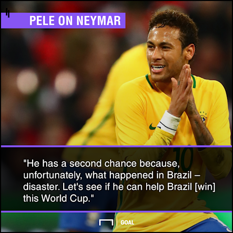 Pele backs Neymar to win tournament for Brazil in Russian Federation