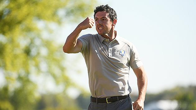 Rory McIlroy buries eagle, twirls club, bows to American Ryder Cup crowd