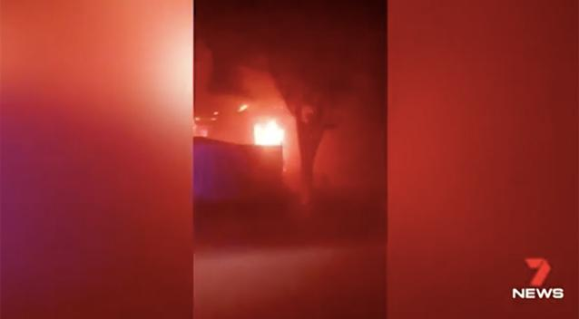 Crews Battle House Fire In Bordeaux